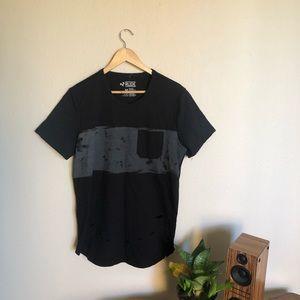 Black Distressed Hot Topic T-Shirt